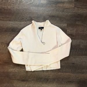Cropped zip up long sleeve